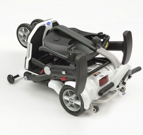 mobility scooter folded for transporting